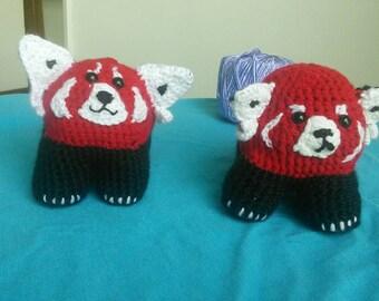 Adorable amigurumi red panda!!   50% of proceeds go to charity