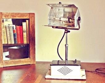 Vintage  Lamp, Steampunk lamp, Soviet Sun Kraft Lamp, Antique Desk Lamp, Antique Medical Lamp, 1940's Soviet desk lamp, Industrial Desk Lamp