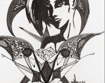 Sharp geometric woman