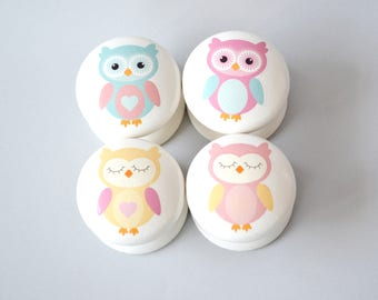 Owl Drawer Knobs, Owl Drawer Pulls, Drawer Pulls,  Owl Dresser Pulls, Children's Room, Nursery Decor, Nursery, knobs, Kids Knobs, Handles.