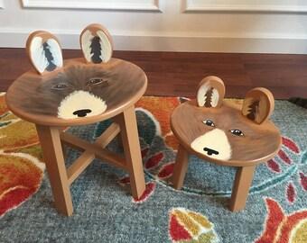 Boisterous Bear stool