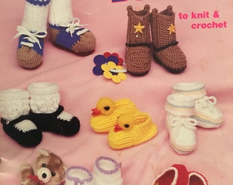 Booties, Booties, Booties To Knit and Crochet by Mary Thomas, American School of Needlework no. 1049 Booklet