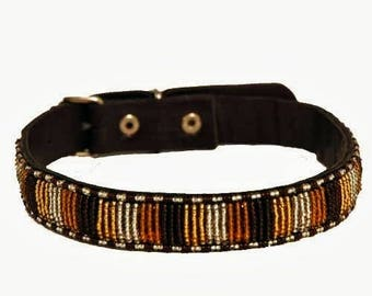 African Beaded Dog collar, maasai beaded dog collar,kenyan beaded dog collar, african handmade dog collar