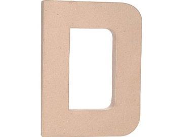 """Paper Mache 12"""" Letter D"""