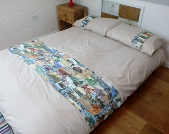 KING Size Duvet Cover with ZIP Closure - Opens up on THREE Sides!!!