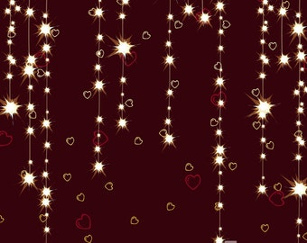 Electric Hearts Valentine Photography Backdrop (VAL-VS-025)