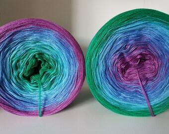Gradient blue Marie designer yarn knit crochet handmade lace yarn