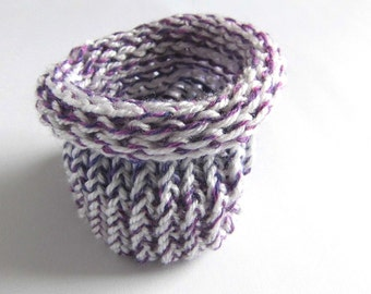 Gift packaging gift bags purple white knitted Jewellery packaging