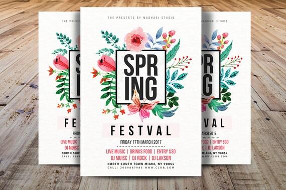 fr hling festival flyer vorlage spring break flyer vorlage. Black Bedroom Furniture Sets. Home Design Ideas