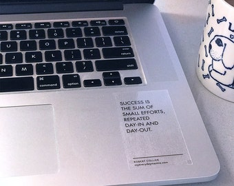Success is the sum of small efforts quote / laptop stickers / mindfulness gift / gratitude / stocking stuffers for women / stocking stuffers