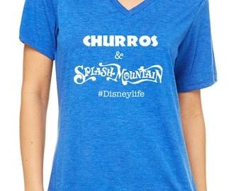 Disney Shirts Churros & Splash Mountain Shirt Disneyland Shirt Disney World Shirt #Disneylife Magic Kingdom Shirt Disney Cruise Shirt
