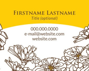 Business Card - Floral