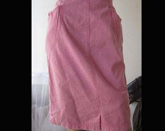 Vintage 80s acid high waist denim skirt denim skirt pink S / M