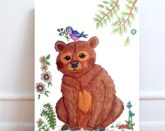 Bear prints, Woodland animals nursery, woodland animals, Woodland nursery, Nursery woodland,  Woodland Animal prints, Woodland prints, bears
