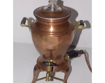 Copper coffee pot,percolator,urn,Universal Landers Frary & Clark,8 cups, 1900s,antique copper brass,tea pot,electric,kettle,Mothers day gift