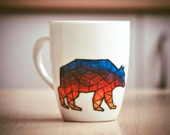Coffee mug Geometric Bear 350 ml Color