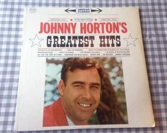 Johnny Horton Greatest Hits Record Vinyl Records 60s 70s Rockabilly Country