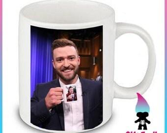 Justin Timberlake Ceramic Coffee Mug Jimmy Fallon Ew Late Night Show Ultimate Inception Coffee Mug