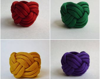 Scout Woggle Turk Head Knot Neckercheif Scarf Slide Cub Boy Venture Handmade Paracord