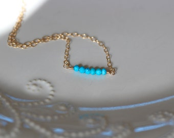 Dainty Turquoise Choker Necklace