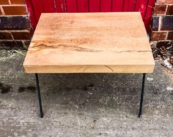 KYSSA - (Open Legged) -  Round Bar Live Edge Coffee Table. Custom made to Order