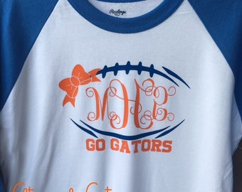 FL Gators monogrammed football shirt