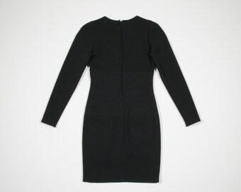 DIOR - black wool dress