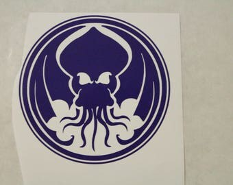 Chtulu Decal Any Size Any Colors