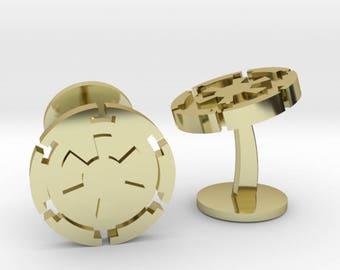 Star Wars Galactic Empire Emblem Cufflinks | Star Wars Imperial Logo Cuff Links | Wedding Cuff links | Gold | Bronze | Rose Gold | Silver