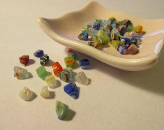 Mini Millefiori Beads, Assorted Lot of 50+ pcs.