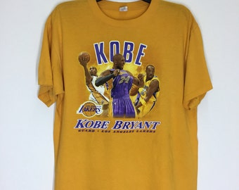 Rare! Vintage 90s Kobe Bryant Los Angeles Lakers Shirt Size Large