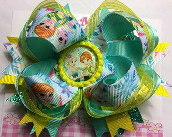 """Frozen Fever 4"""" Boutique Hairbow"""