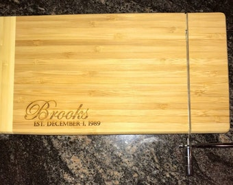 """Custom Engraved Cheese Slicer and Cheese Board 12""""x6"""""""