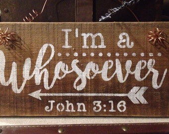 Rustic Inspirational Barnwood Sign