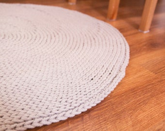 Knitted round rug / carpet 47 colors