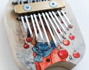 "Kalimba ""Waiting for Christmas"" (artwork of Banga Art) (Thumb piano)"
