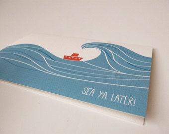 Sea Ya Later Farewell Card
