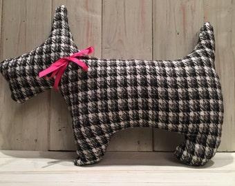 Tweed Scottie Dog Cushion,Scottie Dog,Cushion,Handmade,Tweed Scottie Dog,Tweed Fabric, Handmade Cushion
