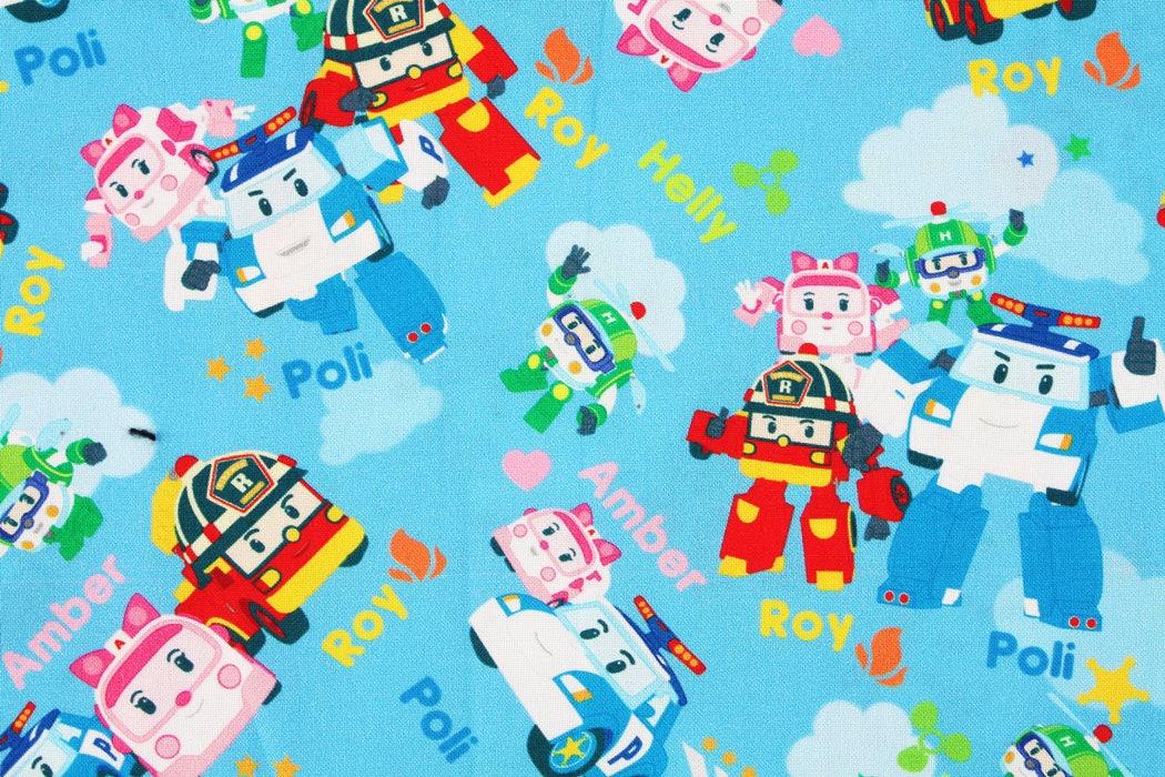 Robocar poli roy amber helly korean anime character fabric - Ambre robocar poli ...