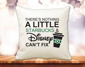 "Disney Starbucks 14"" Pillow"