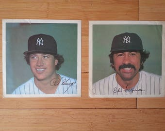 1970's New York Yankees Prints - Goose Gossage and Ed Figueroa