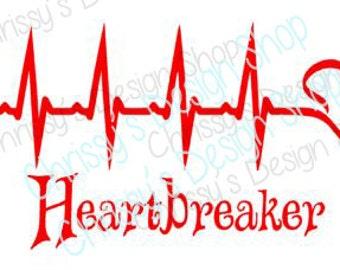 heartbreaker svg / valentines svg / valentines day svg / heartbeat svg / heart beat cut file / heart beat svg / vinyl crafting / love svg