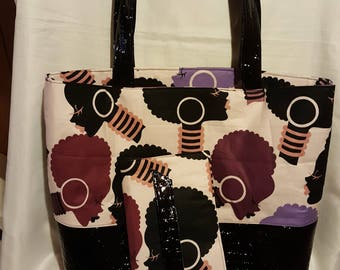 Purple Afro Tote Set