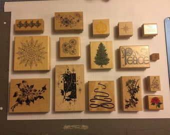 Christmas Ink Stamps (Lot of 16)