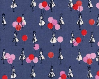 Cotton + Steel- Ladies with balloons -Jubilee -Melody Miller