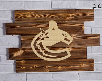 Vancouver Canucks Wood Sign Vancouver Canucks Wall art Vancouver Canucks Gift Vancouver Canucks Birthday Vancouver Canucks Party wooden