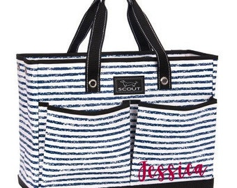 Scout Monogrammed Scout by Bungalow The BJ Bag - Chalk the Line