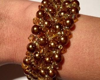 Handmade braided beads bracelet