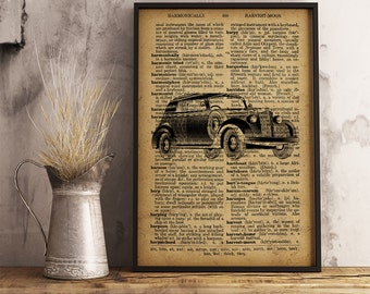 Vitage style Art Decor Retro car poster, Garage Wall Art, Gift for him, Gift for mechanic, gift for driver, Car rental office decor (C05)