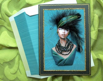 African American couture card,Mother's day card,African American birthday card, diva card,fashion card, fashion diva card,fashion card,
